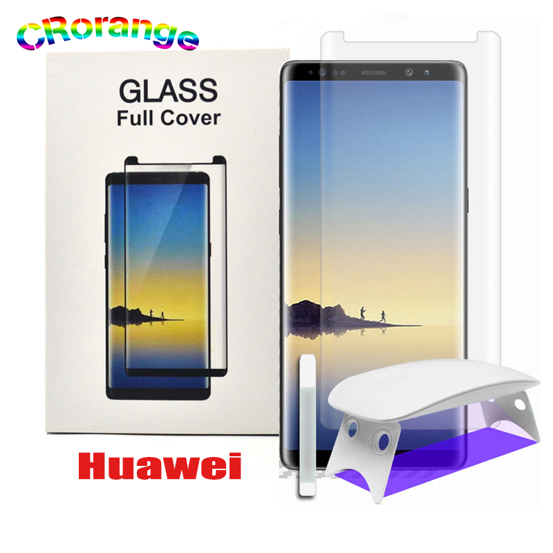 UV Full Glue Screen Protector For Huawei Mate 30 Pro Mate 20 Pro P20 Lite P20 Pro Tempered Glass UV Liquid For Huawei P30 Pro
