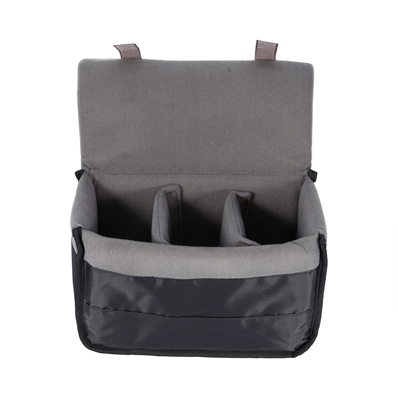 New Portable Camera Insert Padded Bag Insert Case For DSLR Folding Divider Partition SLR Camera Bag Protective Case Gym Bags