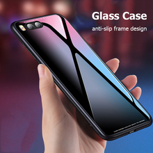 For Xiaomi Mi6 Case Luxury Hybrid Tempered Glass Back Cover Shockproof Sleeve Hard Housing for Xiaomi Mi 6 Mi 8 Phone Cases