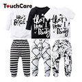 2PCS Newborn Cute Cotton Baby Boy Girl Clothing Set Infant Letter Printed T-shirt+Pants Kids Clothes Soft Toddler Outfits