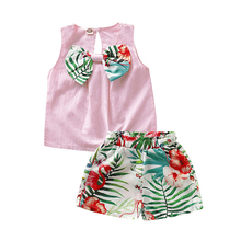 Newborn Baby Kids Girls Clothes Outfits Vest Tops T-Shirt Pants Shorts Clothes Set New Born Girl Clothes Baby Clothing Girl Set newborn baby girl clothes sleeveless tops shorts 2pcs outfits set 0 18m girls rompers clothing