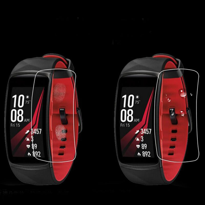 2pcs Anti-Shock Soft TPU Ultra HD Clear Protective Film Guard For Samsung Gear Fit 2 Pro Fit2 Pro Full Screen Protector Cover