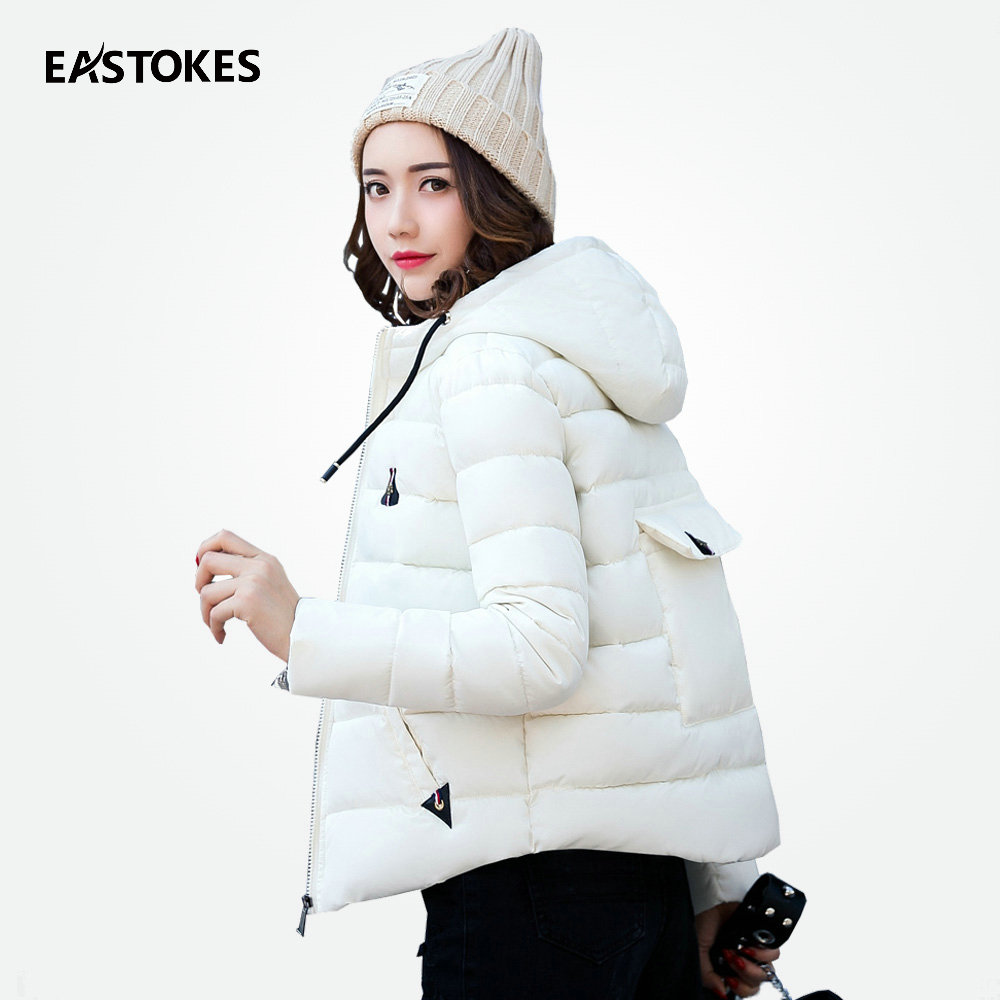 Fashion Women Winter   Basic     Jacket   Quilted Coats Ladies Hooded   Jackets   Winter Youth Cropped Warm Parkas Short Style M-3XL