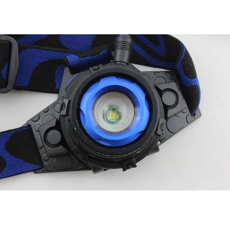 Potężny Q5 LED czołowy Led Reflektor Reflektor Akumulator Lampa - Przenośne oświetlenie - Zdjęcie 4