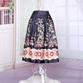full cirlce 1940s 1950s floral high waist rockabilly vintage retro fashion floral skirt  3 colors