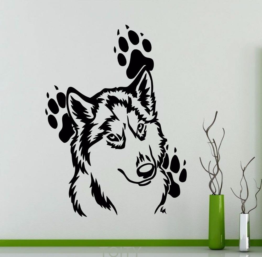 Lobo huella de los clientes compras en l nea lobo huella for Mural para pared dormitorio