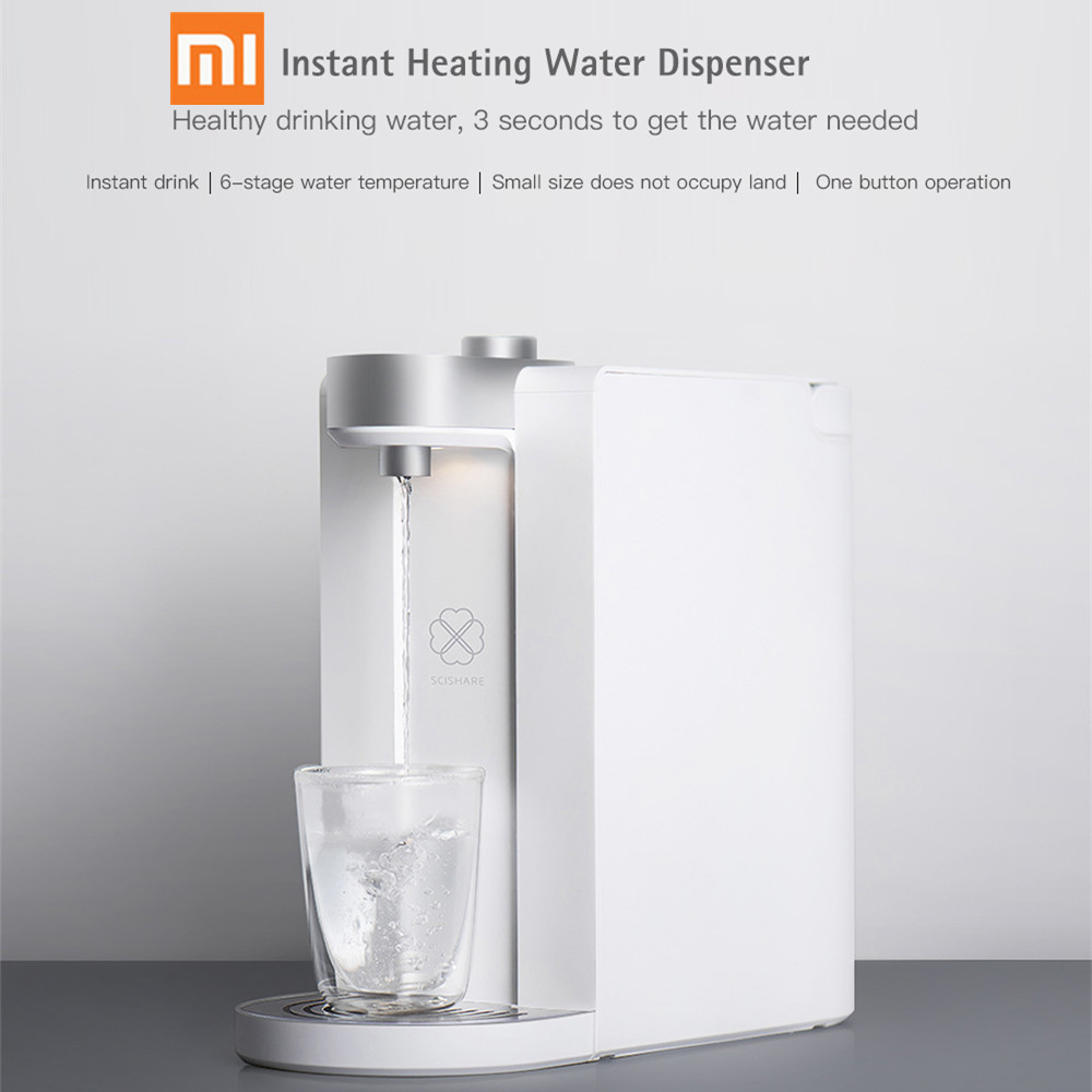 2019 1 Youpin S2101 Smart Heating Water 3 Seconds Instant Heating Water Dispenser 1.8 Large Water Tank Capacity Dispenser|Water Dispensers| |  - title=
