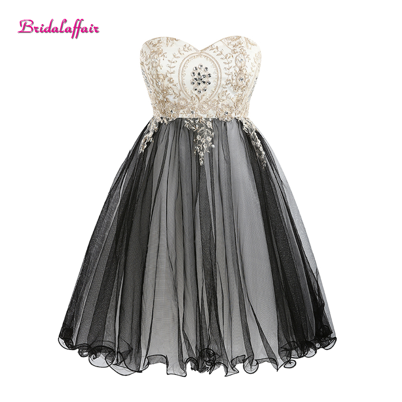 Black Crystal evening   dress   Lace Appliques Sweetheart Short   Prom     Dress   2018 special occasion   dresses   formal   dress     prom