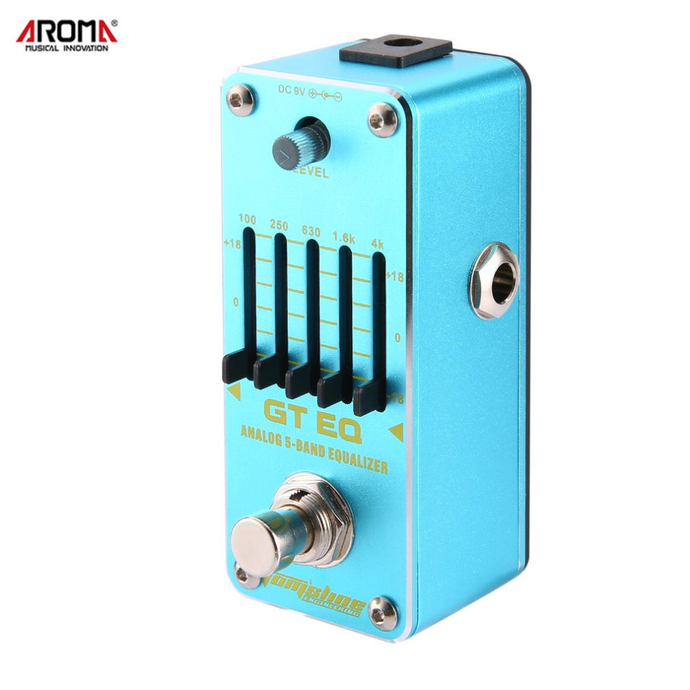 AROMA AEG-3 Guitar Effect Pedal GT EQ Analog 5-Band Equalizer Electric Guitar Effect Pedal Mini Single Effect with True Bypass aroma aov 3 ocean verb digital reverb electric guitar effect pedal mini single effect with true bypass guitar parts