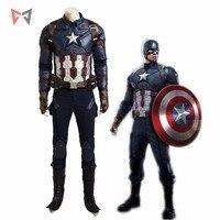 Новый Капитан Америка: Гражданская война косплей Капитан Америка Косплей Костюм карнавальный Хэллоуин супергерой мужской кожаный костюм н