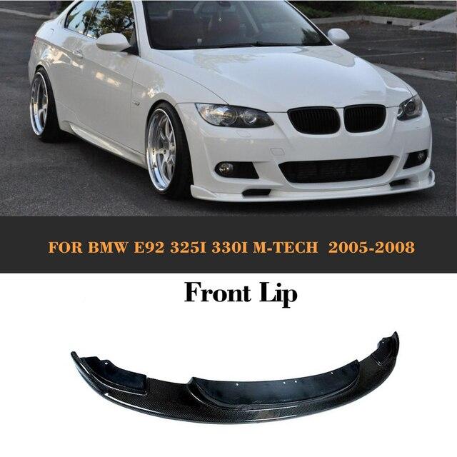 Carbon Fiber Front Bumper Lip For BMW E92 325i 330i M Tech