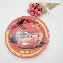 6pc Lightning Mcqueen birthday party supplies Plates For Kids Favors supplie for kids clubhouse