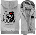 New Winter Jackets and Coats Danganronpa monokuma hoodie Anime Thick Zipper Men Sweatshirts