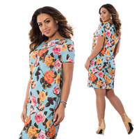 6XL Big Size Elegant Plus Size Dress Women S Spring Autumn Print Dress Fashion Large Size