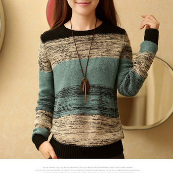 e2e6c59cf7a 2018 Autumn Winter New Women Sweater coat Korean hit color O-Neck Pullover  Sweater Women