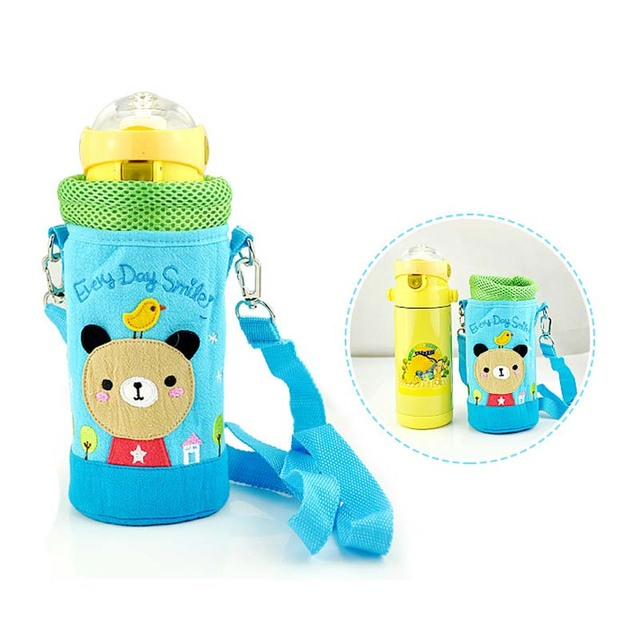 Baby Kids Cartoon Food Feeding Cup Water Bottle Thermal Bag Keep Warm Thermol Storage Insulation Bag Bottle Cover