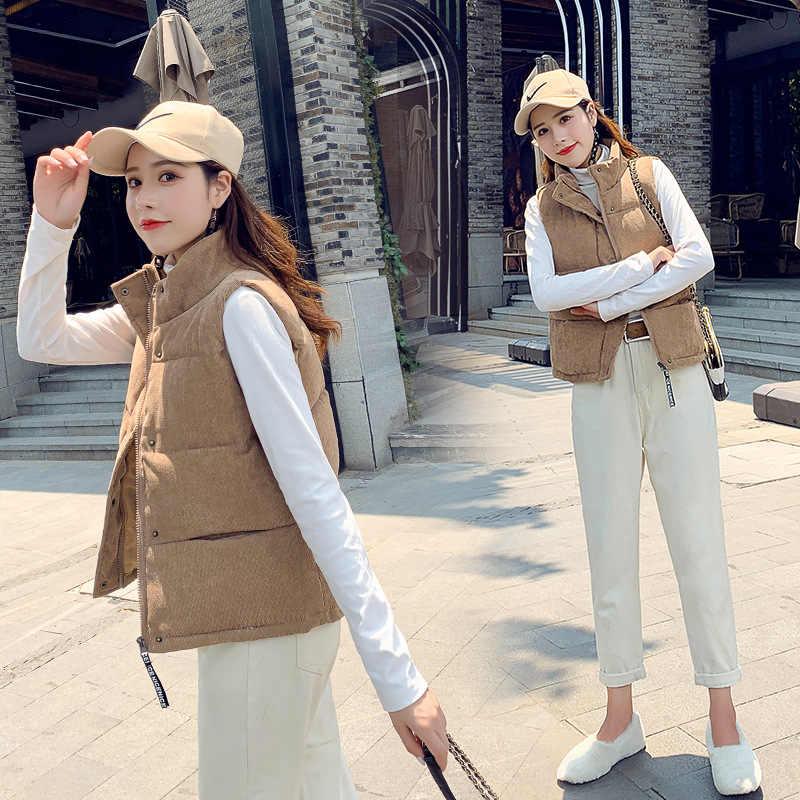 UGREVZ 2019 nowych kobiet Parka kamizelka zima kobiety bez rękawów kurtka z zamkiem płaszcz kobiece na co dzień Plus rozmiar ciepła podkoszulka damska odzież wierzchnia