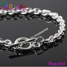 OlingArt Bracelet silver color Bracelet The stereo hearts crude Bracelet ajia