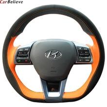 Araba inanıyorum orijinal araba direksiyon kılıfı için hyundai santa fe elantra 2017 solaris accent direksiyon araba aksesuarları