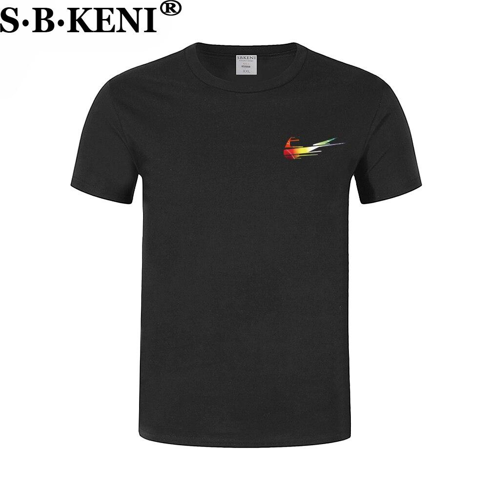 Nueva camiseta Casual de los hombres de impresión tops divertido Camiseta de manga corta de algodón de los hombres camiseta mens t camisa de moda 2018