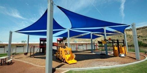 Sun Shade Sail Patio Deck Beach Garden Yard Outdoor Canopy  Cover 20x20x20 Blue