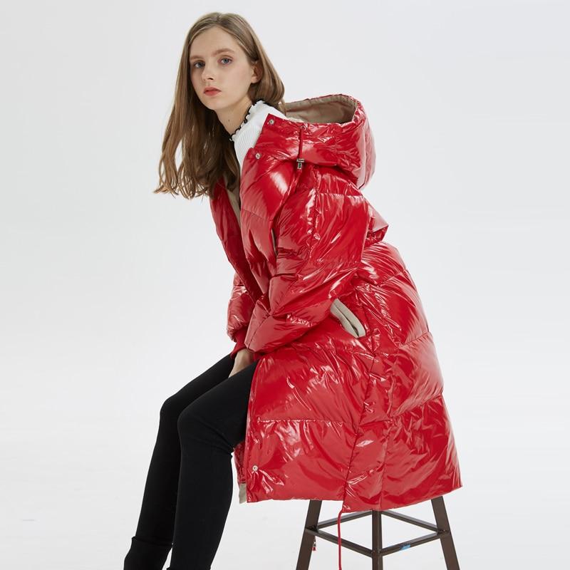 Veste rouge Le Bas À Noir D'hiver Femmes Mujer Vers Long Capuche Parkas 2018 Puffer Chaqueta Femme Vestes Lâche Manteau Coréenne Yp2116 REqnxBx1