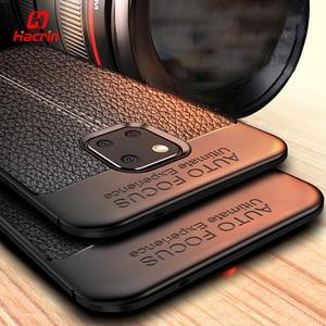 Image 1 - Schokbestendig Case Voor Huawei Mate 20 Pro Case Lederen Textuur Tpu Zachte Beschermende Bumper Rubber Mat Cover Voor Huawei Mate 20