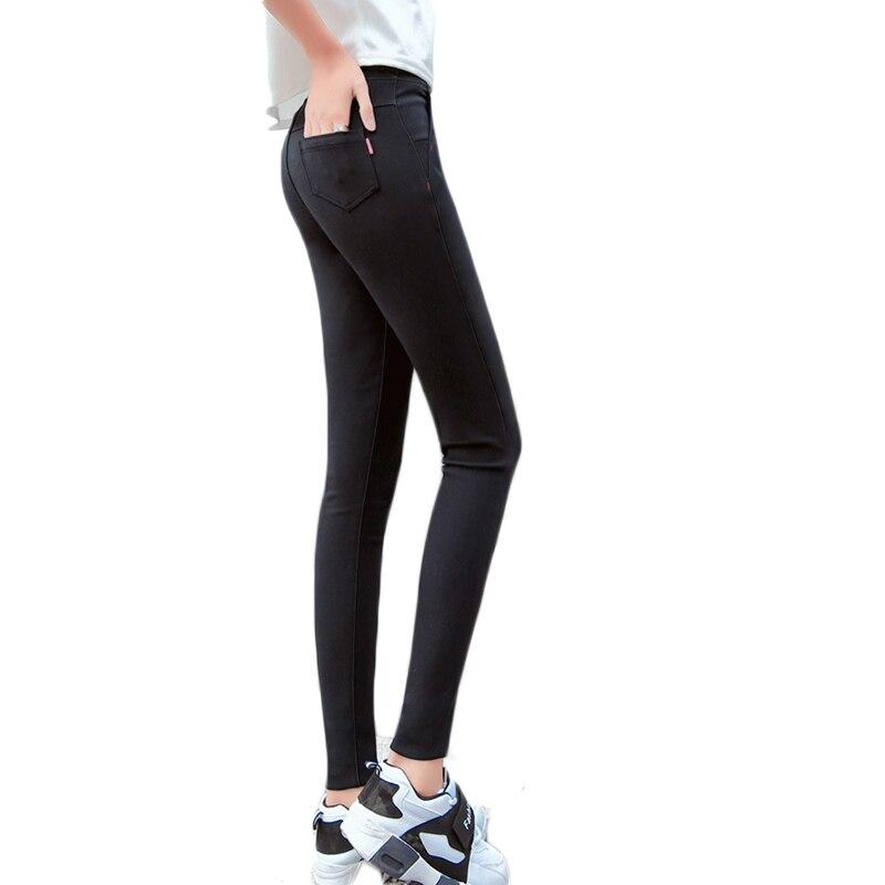 High Waist Women Trousers Work Wear casual Spring Black Thin Pencil Pants Plus Size 4XL Female Slim Pants Elastic Pantalones Muj