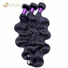 6A Unprocessed BQ Hair Products Peruvian virgin hair Peruvian body wave 3pcs 8-30in Peruvian hair human hair natural black