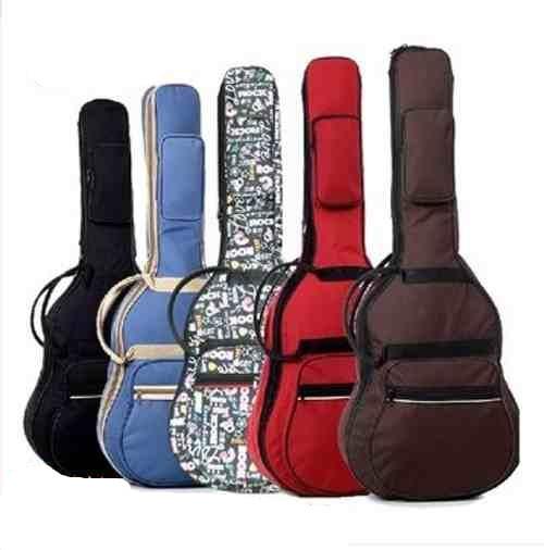 Imperméable à l'eau épaissir 38 39 40 41 acier-chaîne classique sac de guitare sac à dos Guitarra basse pièces Nylon porter Gig toile