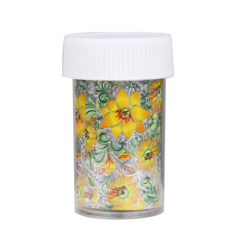 1 Bottle Nail Foil Roll Yellow Flower High Quality Nail Transfer Foil For Women Decoration DIY Material Supply A1