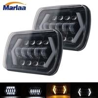 Pair 5X7 Headlights Rectangular LED 5x 7 6X7 Replacement for For 84 01 Cherokee XJ Dodge Van Toyota Pickup Nissan 240SX H6052