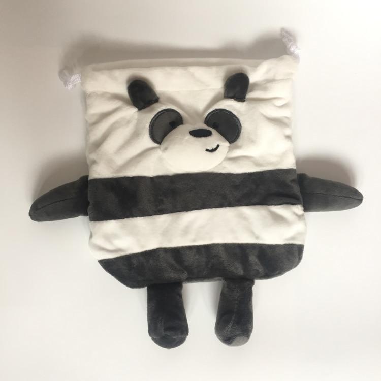 cool 1PCS We Bears Panda Ice Bear Cartoon Drawstring Bags Cute Plush storage handbags makeup bag