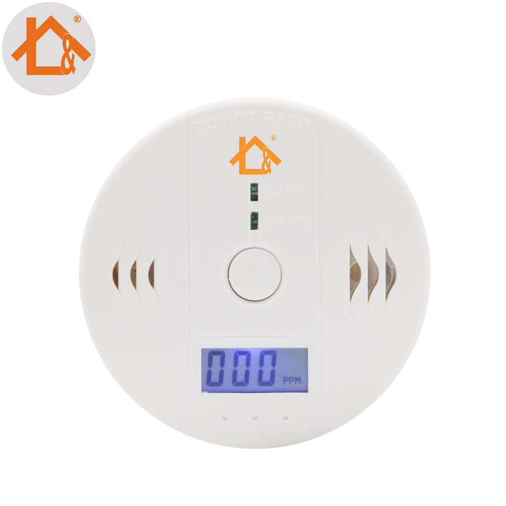 Fuers 2pcs Co Sensor 85db Carbon Monoxide Detectors Lcd Photoelectric Independent Poisoning Warning Alarm Co Gas Sensor Detector Fire Protection