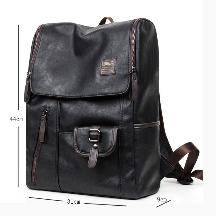 Hot-Sale-Oil-Wax-Paper-Leather-Backpacks-Western-style-Fashion-Bag-For-Men-Outdoor-Travel-Mochila