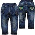 6155 azul marino niños jeans denim pantalones niños pantalones del bebé de primavera y otoño niño moda de nueva