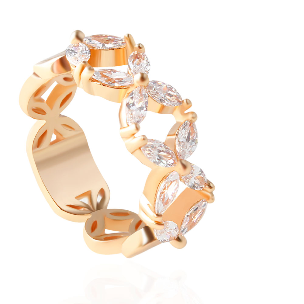 2019 Latest Design F&u Special Unique Design Summer New Collection Gold And Silver Color Engagement Fashion Ring To Be Distributed All Over The World