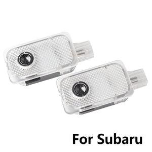 2 uds LED Luz de bienvenida para puerta del coche proyector de sombra Logo puerta luz para Subaru BRZ FORESTER OUTBACK XV LEGACY IMPREZA