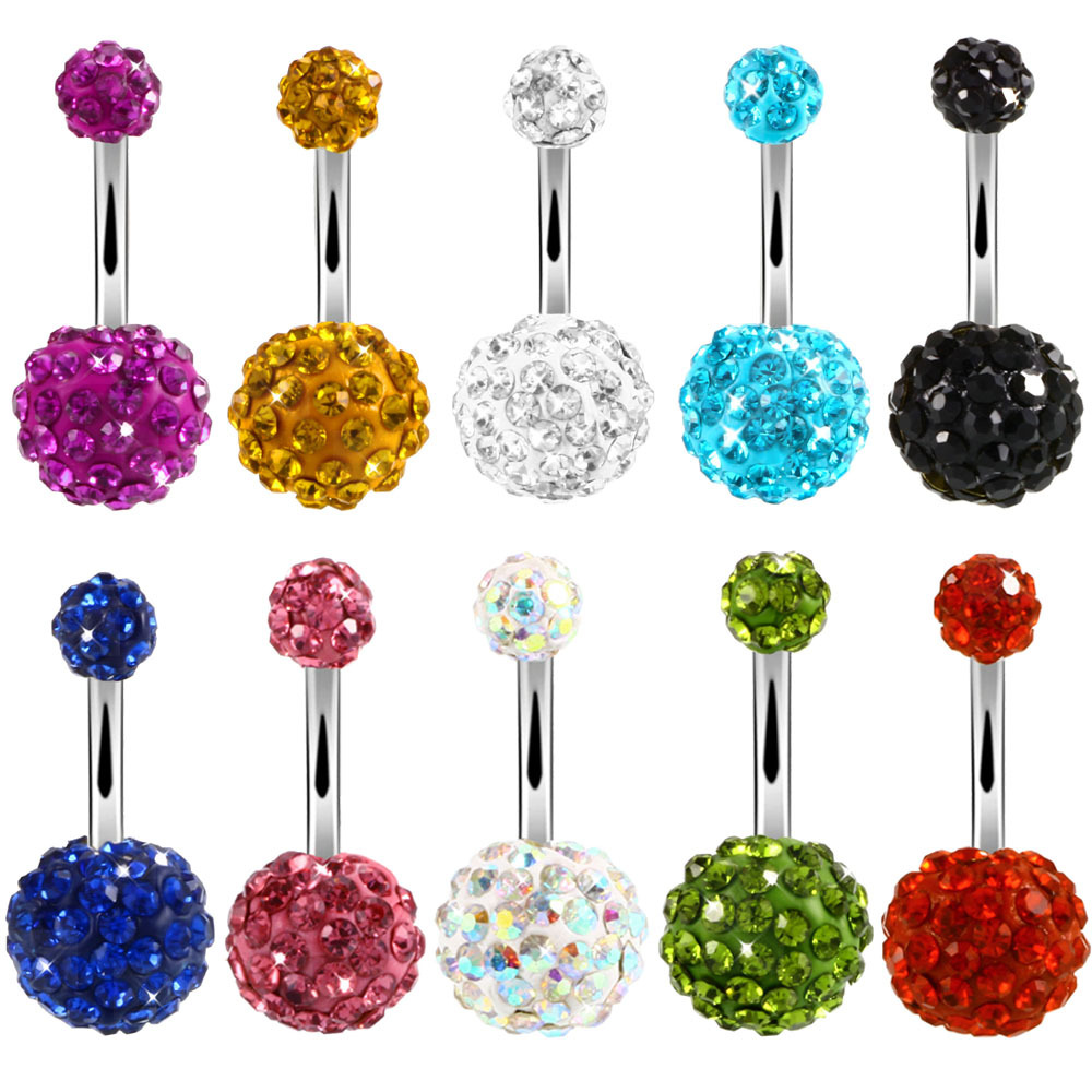 Blingbling belly button rings,AB color diamond belly ring,No dangle belly ring,Diamond Navel Piercing Ring Stud Piercing