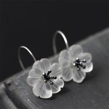 Handmade Flower Drop Earrings