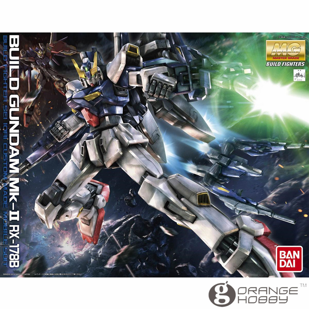 OHS Bandai MG 180 1/100 Build Gundam Mk-II RX-178B Mobile Suit Assembly Model Kits купить