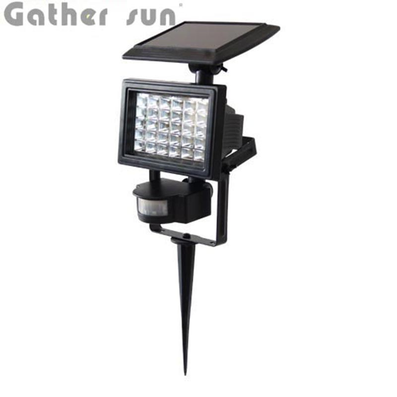 Solar PIR Motion Sensor Light Outdoor IP44 Waterproof 30 LEDs ABS Body Patent Solar Power Wall/Lawn Lamp For House Yard Garden