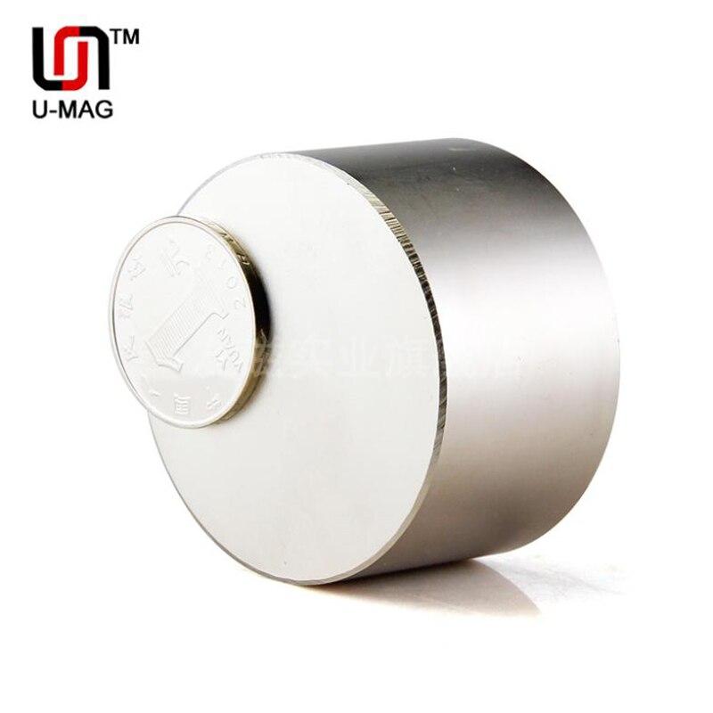 1pcs Super Strong Dia 50x30mm True N52 Rare Earth Neodymium Disc Magnet Free Shipping Anti gravity