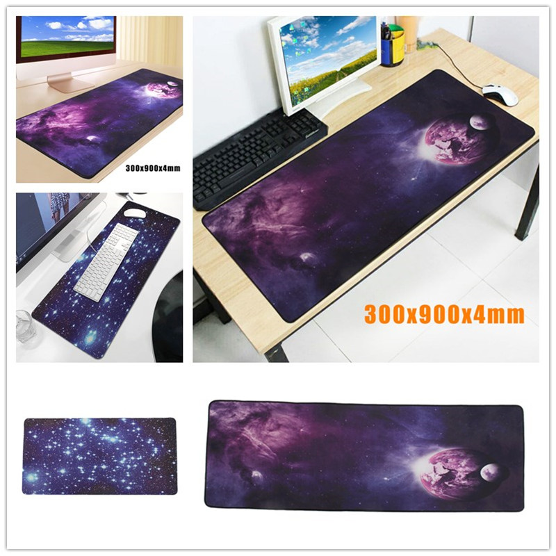Leory Universal 900 x 300 x 4mm Large Mouse Pad Computer Laptop PC Gaming Mat Sky Planet Control/Speed Version Mousepad