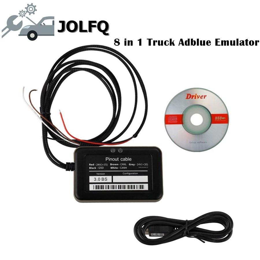 2018 эмулятор Adblue лучшего качества 8 в 1 adblue 8 в 1 с программирующим адаптером эмулятор Adblue для грузовика Бесплатная доставка