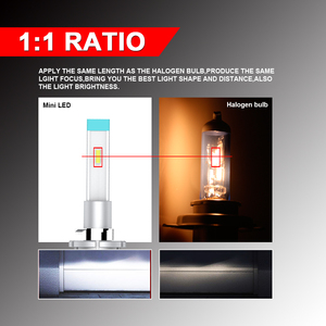 Image 2 - CARLITS H7 LED H4 LED סופר מיני H8 H11 9005 H13 881 HB4 H3 H1 led פנס CSP H9 9006 ערפל אור H13 12V 2PCS 12000LM Canbus