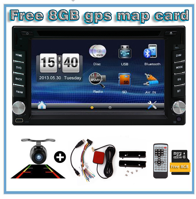 2 din Car autoradio headunit couble din Car PC DVD Player GPS Navigation In dash dvd gps Stereo video Free Rear view Camera+Map double din car autoradio gps map navigation 2din car dvd player with bluetooth stereo video camera steering wheel gps navigation