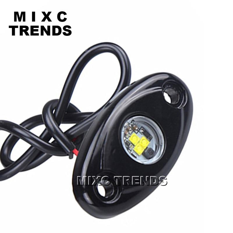 MIXC TRENDS 4Pcs 9W Under body led Rock Lamp Under LED Car Chassis Decorative light Waterproof Car Exterior Decoration lights
