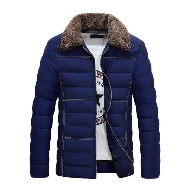 7c5c9cc46 New Trend Navy Blue Winter Jacket Men/Boy Doudoune Homme Hiver 2016 Mens  Fashion Faux