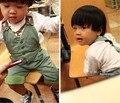 Экспорт осень хлопок мальчиков ребенок нагрудник брюки малыша Стиль Джентльмен Комбинезоны горячий продавать ребенок досуг брюки